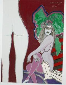 """Picture of CORNEILLE (GUILLAUME CORNELIS VAN BEVERLOO) """"LES FLEURS DU MAL"""""""